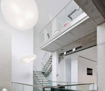 group-ceyssens glass balustrade stairs panels glass banister